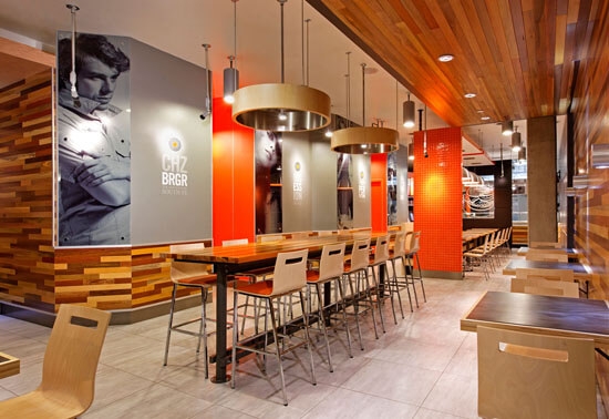 ARE award Winner South St Burger fast casual environmental design 3