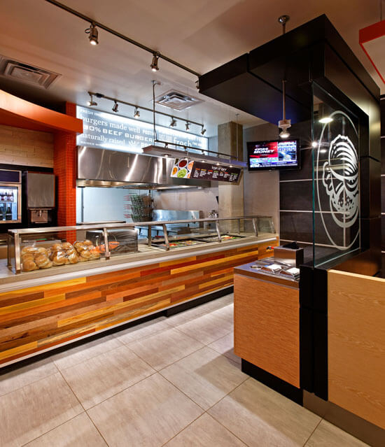 ARE award Winner South St Burger fast casual environmental design 4
