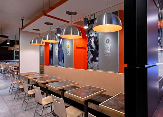 ARE award Winner South St Burger fast casual environmental design 6